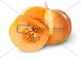 Slice Of Pumpkin Behind Around