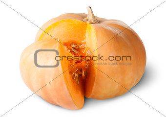Sliced Pumpkin With Seeds Rotated