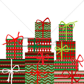 Background with gift boxes