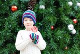 kid at christmas time