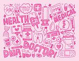 doodle medical background