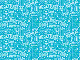 seamless doodle medical pattern