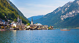 Panoramic view of Hallstatt village