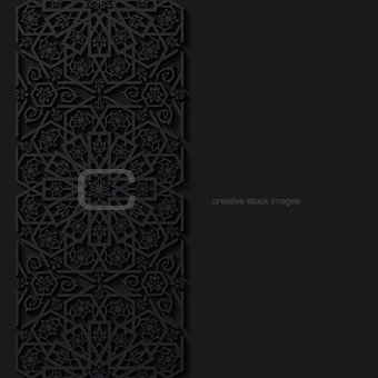 Abstract background with floral pattern