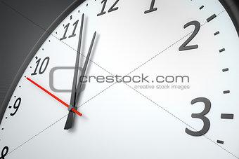 clock at the wall