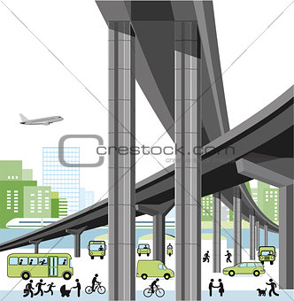 City highway and traffic