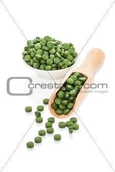 Green pills.