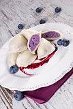 Blueberry dumpling.