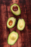 Ripe avocado background.