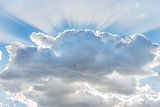 Cloud with sunbeams