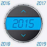 Car gauge with 2015 text