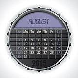 2015 august calendar with lcd display