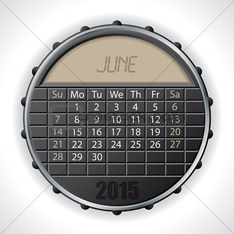 2015 june calendar with lcd display