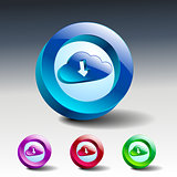 cloud download symbol illustration icon vector