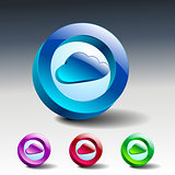 cloud symbol illustration icon vector sign