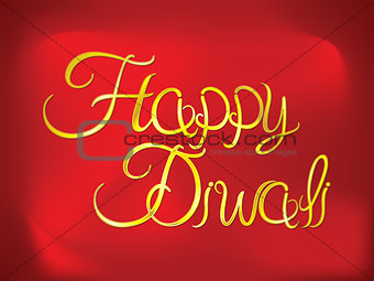 abstract artistic diwali golden text