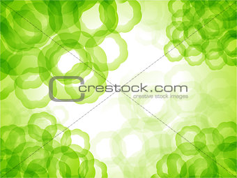 abstract circle green background