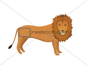 abstract detailed lion