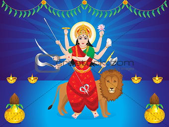 abstract artistic durga background