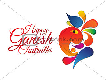 abstract ganesha chaturthi background