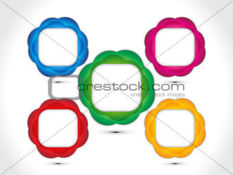 abstract artistic colorful multiple circle background