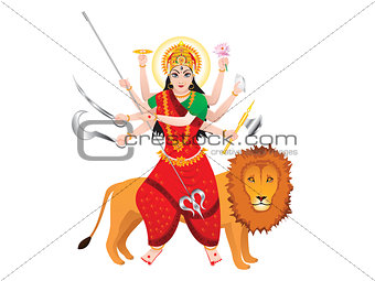 abstract isolated durga background