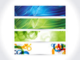 abstract artistic multiple colorful banner