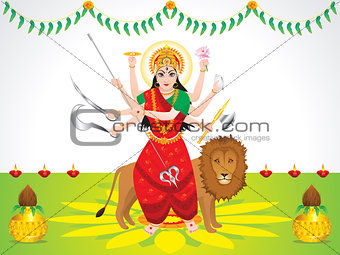 abstract artistic detailed durga background