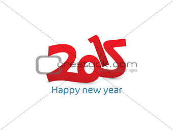 abstract new year text