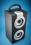 Portable music loudspeaker