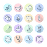 Thin Line Icons For Medical
