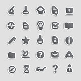 Sticker icons for education