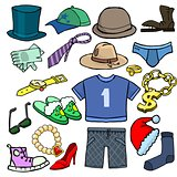 Cartoonish clothes, shoes and accessories