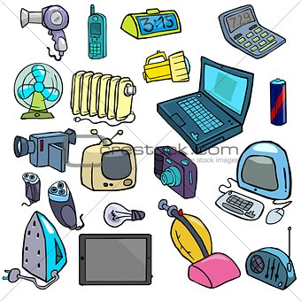 Cartoonish electric devices