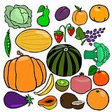 Cartoonish fruits and vegetables vol. 2