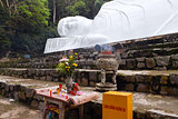Lying Buddah statue in Ta Cu mountain, Vietnam.