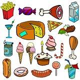 Cartoonish food