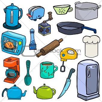 Cartoonish kitchen