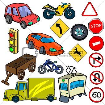 Cartoonish traffic