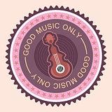 Musical round label