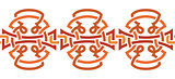 Seamless ornament. Tribal. Decorative element for design