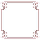 Vector square frame. Element for design