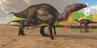 Camptosaurus Dinosaur Pond