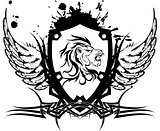 heraldic lion head coat of arms tattoo2