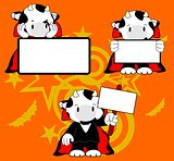 cow with halloween vampire costume