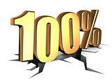 100 percent sign
