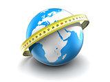 measure earth globe