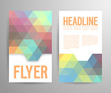 Abstract flyer template with place for text.
