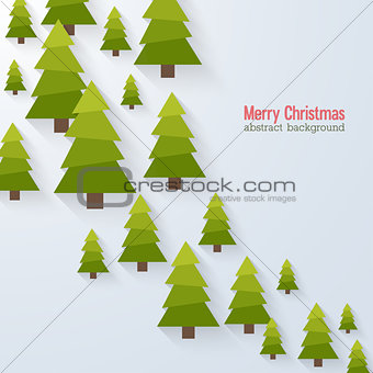 Abstract background with christmas trees.
