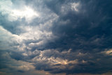 heavy storm clouds